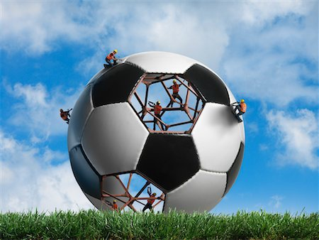 Construction Workers Building a Soccer ball Stock Photo - Rights-Managed, Code: 700-02264973