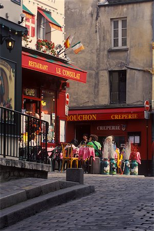 Cafe in Montmartre, Paris, France Stock Photo - Rights-Managed, Code: 700-02265054
