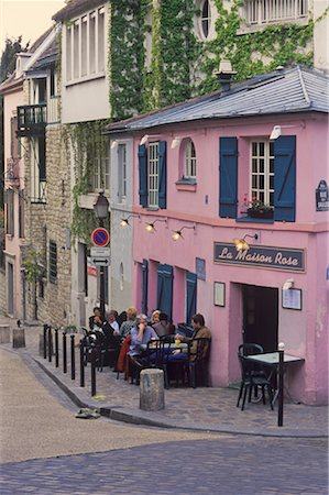 Cafe in Montmartre, Paris, France Stock Photo - Rights-Managed, Code: 700-02265055