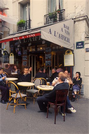 Cafe in Montmartre, Paris, France Stock Photo - Rights-Managed, Code: 700-02265056