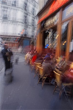 Accordion Player in Front of Cafe Montmartre, Paris, France Stock Photo - Rights-Managed, Code: 700-02265057