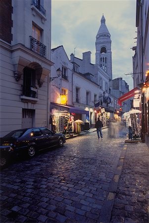 Street Scene in Montmartre, Paris, France Stock Photo - Rights-Managed, Code: 700-02265058
