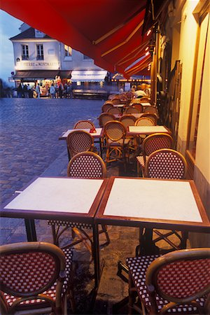 Cafe in Montmartre, Paris, France Stock Photo - Rights-Managed, Code: 700-02265059