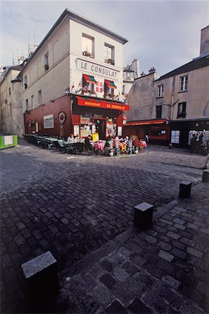 Cafe in Montmartre, Paris, France Stock Photo - Rights-Managed, Code: 700-02265065
