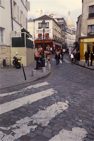 Street Scene, Montmartre, Paris, France Stock Photo - Rights-Managed, Code: 700-02265066