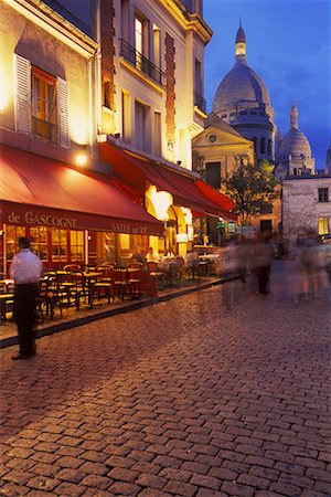Montmartre in the Evening, Paris, France Stock Photo - Rights-Managed, Code: 700-02265061