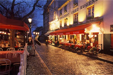 Montmartre in the Evening, Paris, France Stock Photo - Rights-Managed, Code: 700-02265062