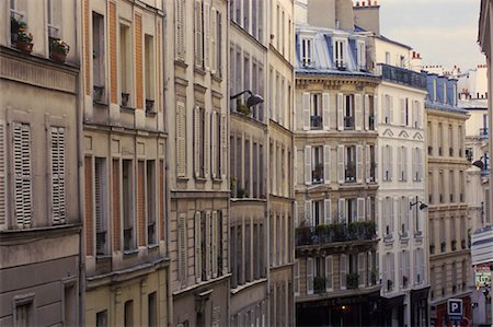 Apartments in Montmartre, Paris, France Stock Photo - Rights-Managed, Code: 700-02265063