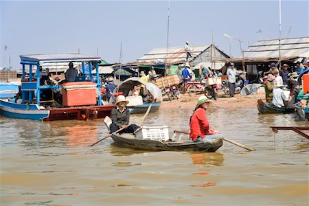 Boats on Water, Tonle Sap Lake, Siem Reap, Cambodia Stock Photo - Rights-Managed, Code: 700-02265622