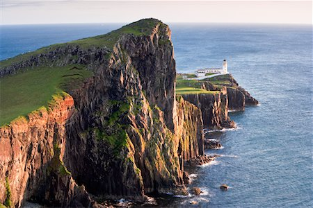 Overview of Basalt Sea Cliffs, Neist Point, Isle of Skye, Scotland Stock Photo - Rights-Managed, Code: 700-02260034