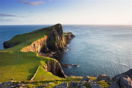 Overview of Basalt Sea Cliffs, Neist Point, Isle of Skye, Scotland Stock Photo - Rights-Managed, Code: 700-02260033