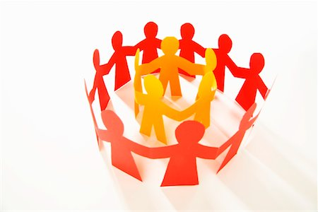 Rings of Paper Cut-Out Figures Stock Photo - Rights-Managed, Code: 700-02289286