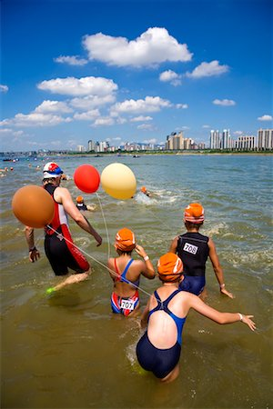 Swimming Contest in Han River, Seoul, South Korea Stock Photo - Rights-Managed, Code: 700-02289640