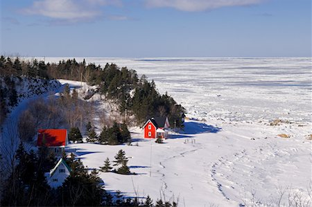 Overview of Icy Lake, Gaspasie, Quebec, Canada Stock Photo - Rights-Managed, Code: 700-02289761