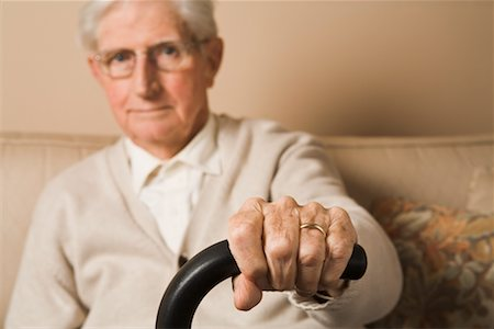 Man's Hand Gripping Cane Handle Stock Photo - Rights-Managed, Code: 700-02346382