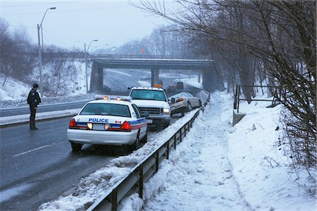 Winter Car Accident Scene, Toronto, Ontario, Canada Stock Photo - Rights-Managed, Code: 700-02348773