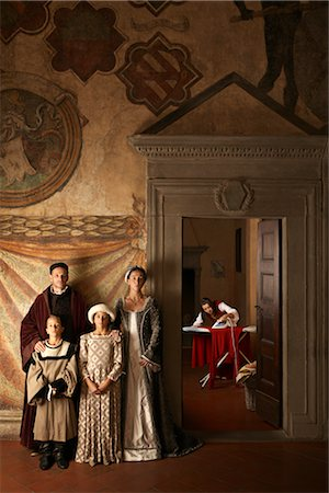 Maid Ironing and Medieval Family, Mugello, Tuscany, Italy Stock Photo - Rights-Managed, Code: 700-02376728