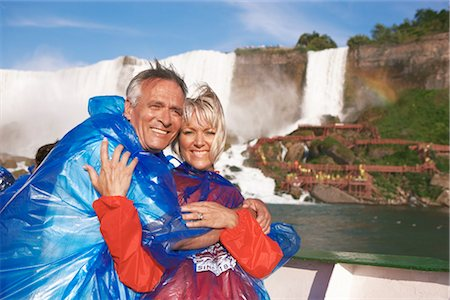 Couple on Boat, Niagara Falls, Ontario, Canada Stock Photo - Rights-Managed, Code: 700-02376810