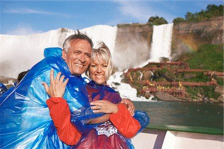Couple on Boat, Niagara Falls, Ontario, Canada Stock Photo - Rights-Managed, Code: 700-02376810