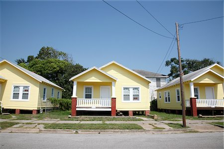 Row of Houses in Subdivision, Galveston, Texas, USA Stock Photo - Rights-Managed, Code: 700-02376839