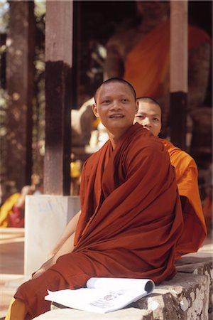 Monks at Angkor Wat, Angor, Cambodia Stock Photo - Rights-Managed, Code: 700-02376994