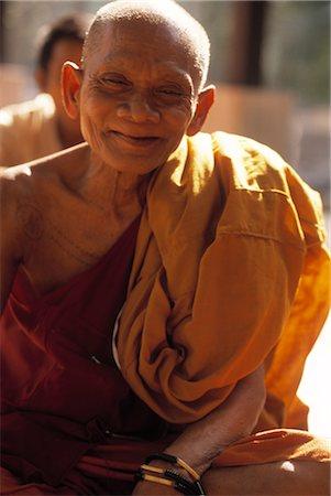 Portrait of Monk at Angkor Wat, Angor, Cambodia Stock Photo - Rights-Managed, Code: 700-02376993