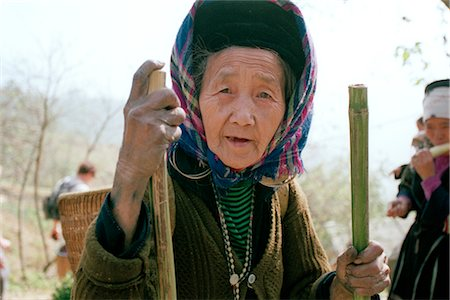 Portrait of Elderly Woman, Sa Pa, Lao Cai, Vietnam Stock Photo - Rights-Managed, Code: 700-02377027
