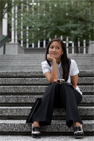 Businesswoman On City Steps Stock Photo - Rights-Managed, Code: 700-02377036