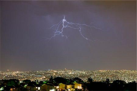 storm lightning - Lightening Over Umhlanga Rocks, Durban, KwaZulu Natal, South Africa Stock Photo - Rights-Managed, Code: 700-02377247