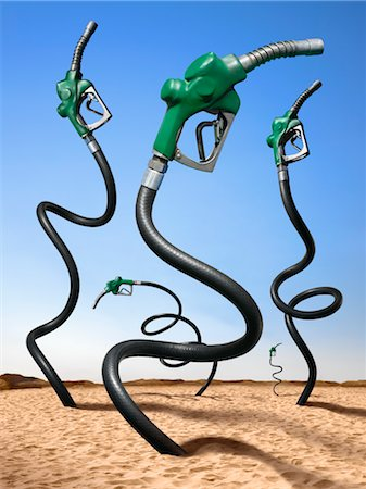 Oil Pumps in Desert Stock Photo - Rights-Managed, Code: 700-02377624