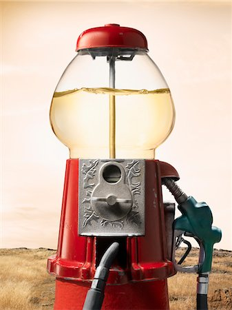 Gasoline-Filled Gumball Machine by Desert Stock Photo - Rights-Managed, Code: 700-02377622
