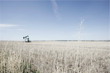 Pump Jack in Prairie Field, Alberta, Canada Stock Photo - Rights-Managed, Code: 700-02377936