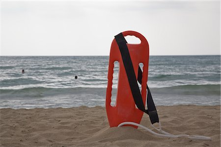 Lifeguard's Floatation Device on the Beach, Mallorca, Baleares, Spain Stock Photo - Rights-Managed, Code: 700-02371187