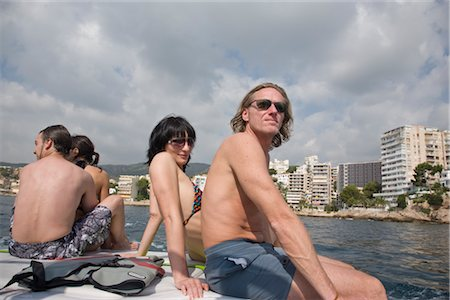 Couples on Speedboat, Mallorca, Baleares, Spain Stock Photo - Rights-Managed, Code: 700-02371194
