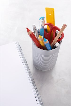 Still Life of School Supplies Stock Photo - Rights-Managed, Code: 700-02371493