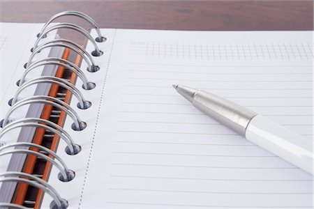 school desk - Close-up of Pen and Day Planner Stock Photo - Rights-Managed, Code: 700-02371525