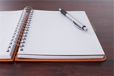 school desk - Close-up of Pen and Day Planner Stock Photo - Rights-Managed, Code: 700-02371521