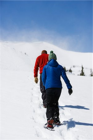 Couple Snowshoeing, Breckenridge, Colorado, USA Stock Photo - Rights-Managed, Code: 700-02386034