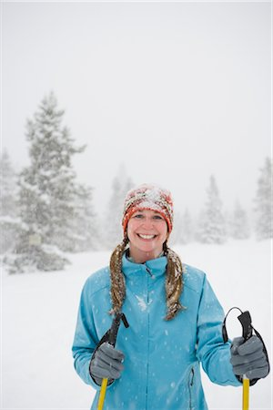 Woman Cross Country Skiing, Breckenridge, Colorado, USA Stock Photo - Rights-Managed, Code: 700-02386048