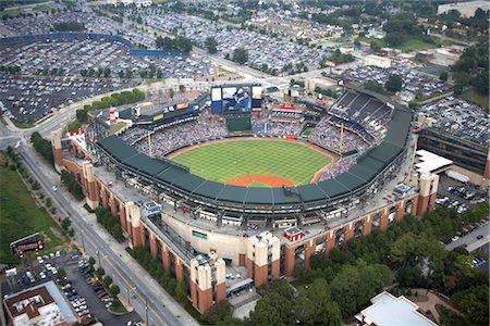 professional baseball game - Aerial View of Turner Field, Atlanta, Georgia, USA Stock Photo - Rights-Managed, Code: 700-02418156