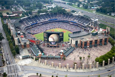 professional baseball game - Aerial View of Turner Field, Atlanta, Georgia, USA Stock Photo - Rights-Managed, Code: 700-02418158