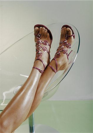 Woman's Feet with Stylish High Heels Stock Photo - Rights-Managed, Code: 700-02428543