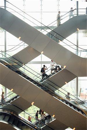People on Escalators, Hong Kong, China Stock Photo - Rights-Managed, Code: 700-02428852