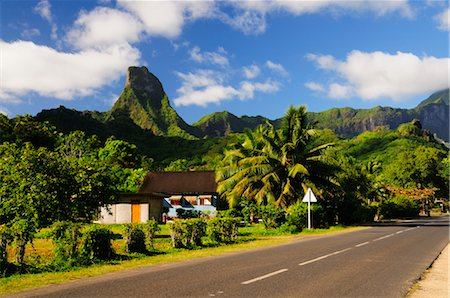 french polynesia - Mt Tearai, Moorea, Society Islands, French Polynesia, South Pacific Stock Photo - Rights-Managed, Code: 700-02429246