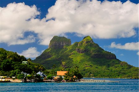 french polynesia - Bora Bora and Lagoon, Society Islands, French Polynesia, South Pacific Stock Photo - Rights-Managed, Code: 700-02429240