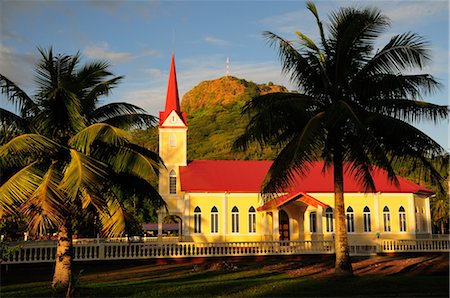 french polynesia - Church in Uturoa, Raiatea, Society Islands, French Polynesia South Pacific Stock Photo - Rights-Managed, Code: 700-02429255