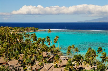 french polynesia - Temae Beach, Moorea, Society Islands, French Polynesia, South Pacific Stock Photo - Rights-Managed, Code: 700-02429251