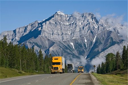 Trans-Canada Highway, Near Banff, Banff National Park, Alberta, Canada Stock Photo - Rights-Managed, Code: 700-02519082