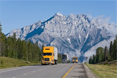 Trans-Canada Highway, Near Banff, Banff National Park, Alberta, Canada Stock Photo - Rights-Managed, Code: 700-02519083