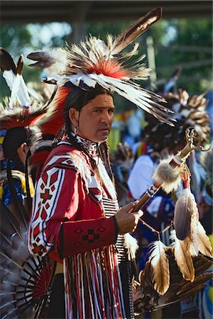 Blackfoot Man at Pow-wow in Kainai Nation, South of Fort Macleod, Alberta, Canada Stock Photo - Rights-Managed, Code: 700-02519094